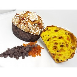 Panettone all'arancia e cioccolato